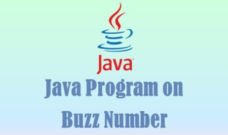 Java Program on Buzz Number