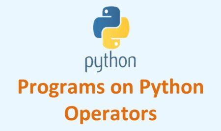CBSE Python Questions on Operators