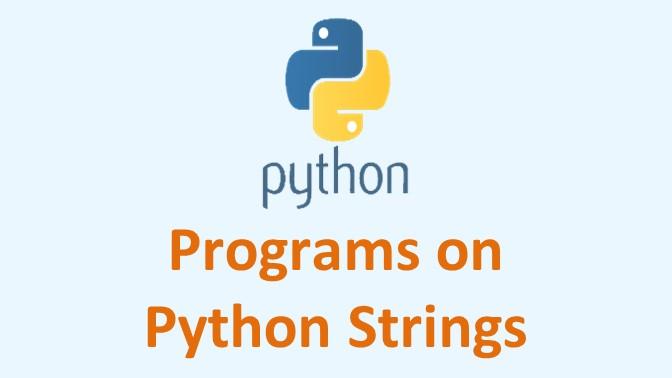 Programs on String