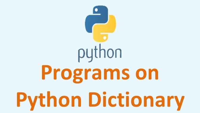 programs on python dictionary