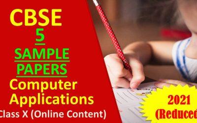 CBSE Class 10 Computer Sample Papers Term 1 2022 format
