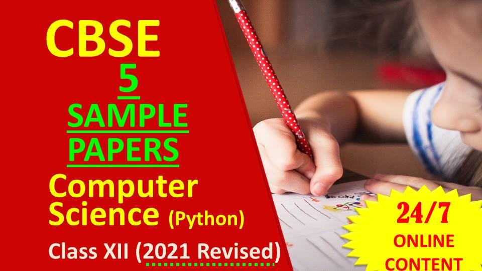 Sample Paper CBSE Class12