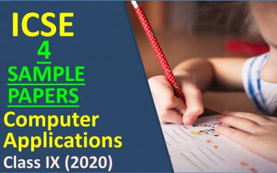 Latest ICSE Class 9 Computer Sample Paper