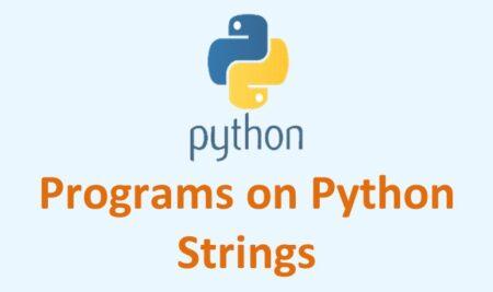 Python Problems on Strings