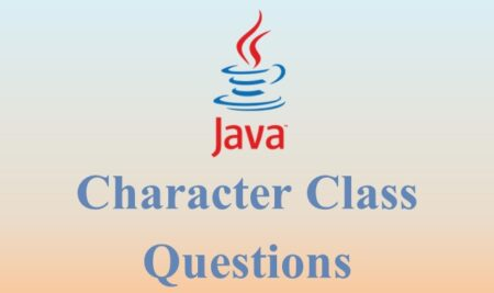 Java character class example questions