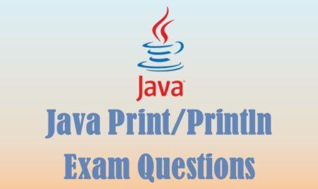Java print/println exam questions