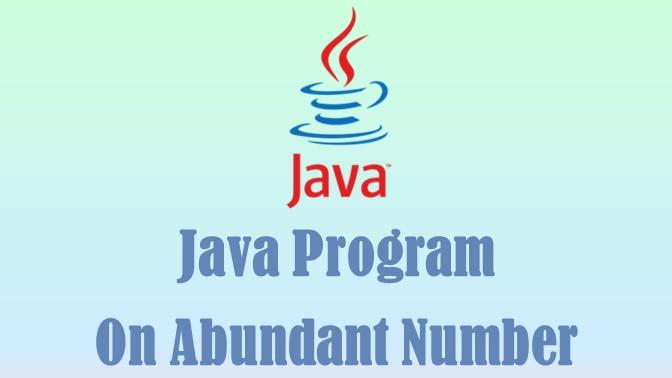 Abundant Number