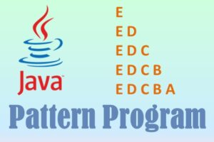 java character pattern program
