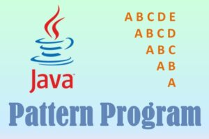 java character pattern program