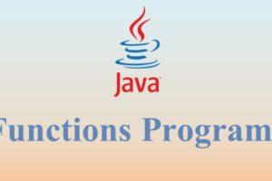Functions or methods Programs 1