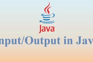 Input-Output in Java