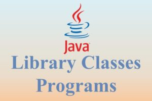 Library Classes Programs