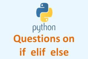 Python if elif else Notes