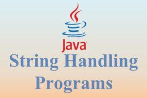 String Handling Programs