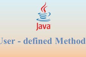 User – defined Methods