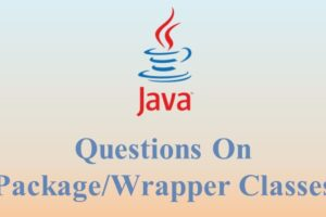 questions on package-wrapper classes