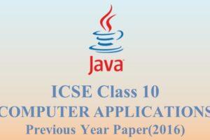 ICSE Class 10 2016