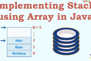 Implementing Stack using Array in Java